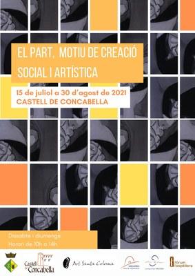"""👉 Nova exposició temporal al Castell de Concabella, que porta per títol: """"El part, motiu de creació social i artística""""."""