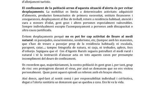 Comunicat de les Presidències Comarcals de la Segarra.