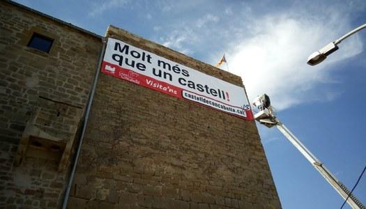 Al Castell de Concabella estrenem pancarta!