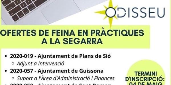 Oferta de feina en pràctiques a l'ajuntament dels Plans de Sió